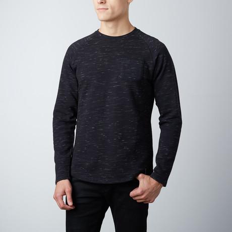 Asher Curved Hem Pullover // Black (S)