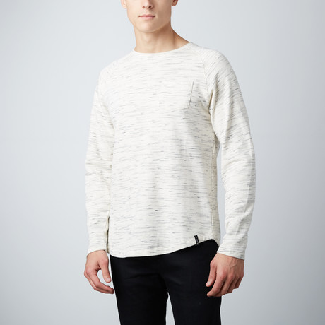 Asher Curved Hem Pullover // Oatmeal (S)
