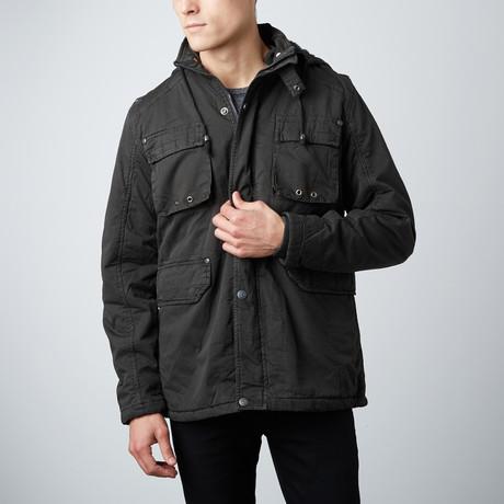 Kamden Long Cotton Jacket // Charcoal