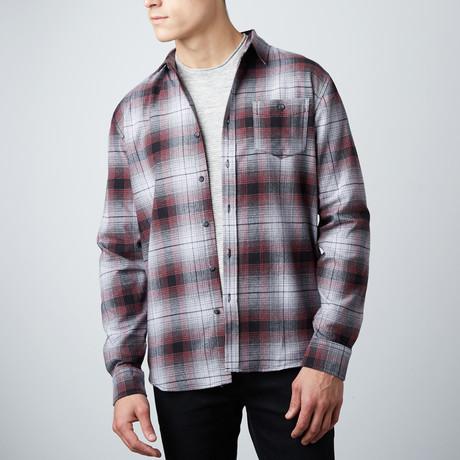 Randy Flannel Shirt // Burgundy (S)