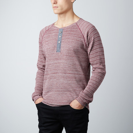 Dayton Thermal Henley // Ruby Wine (S)