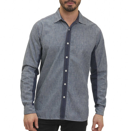 Jayesh Long-Sleeve Woven Shirt // Indigo (S)