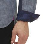 Jayesh Long-Sleeve Woven Shirt // Indigo (S)