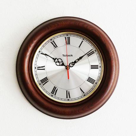VOYAGE Wall Clock // Espresso