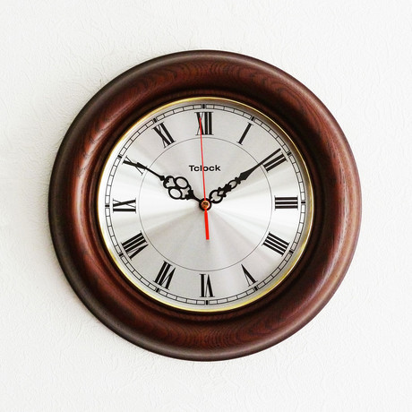 Voyage wall clock espresso tclock touch of modern for Touch of modern clock