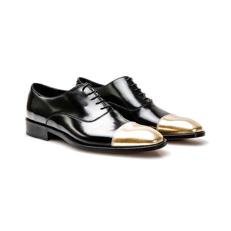 Toto Oxford Toe Cap // Black + Gold (Euro: 41)