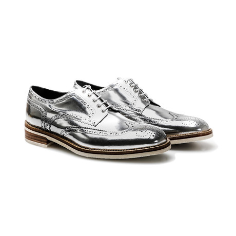 Volta Derby Wing Brogue // Silver (Euro: 41)