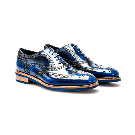 Da Vinci Oxford Wing Brogue // Blue (Euro: 41)