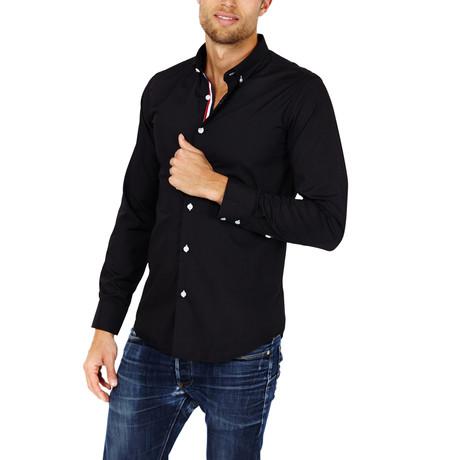 Thomas Button-Up Shirt // Black (S)