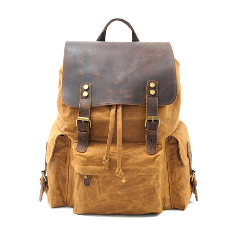 No. 737 Canvas Backpack (Black)