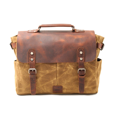 No. 742 Camera Bag (Khaki)