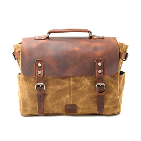 No. 743 Canvas Messenger Bag (Khaki)