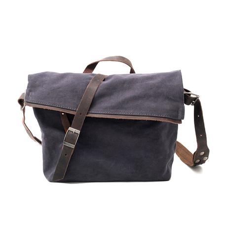 No. 745 Canvas Messenger Bag (Off White)