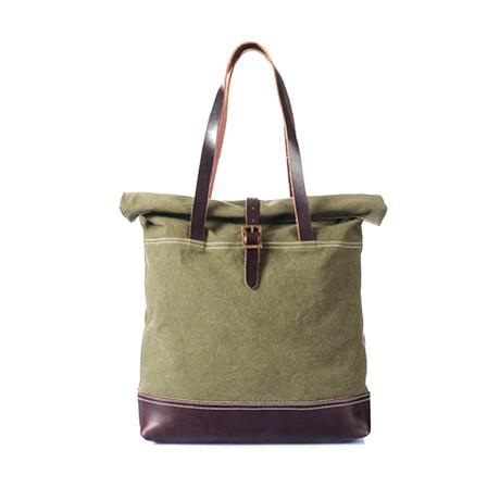 No. 771 Canvas Tote Bag (Army Green)