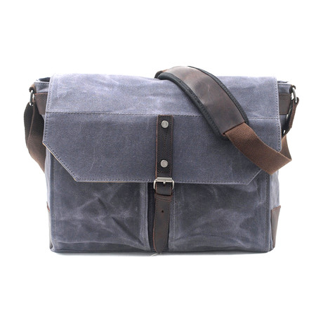 No. 755 Canvas Messenger Bag (Black)
