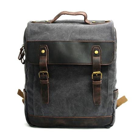 No. 757 Canvas Backpack (Khaki)
