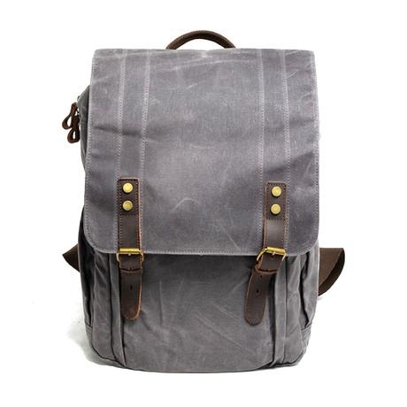 No. 766 Canvas Camera Backpack (Black)