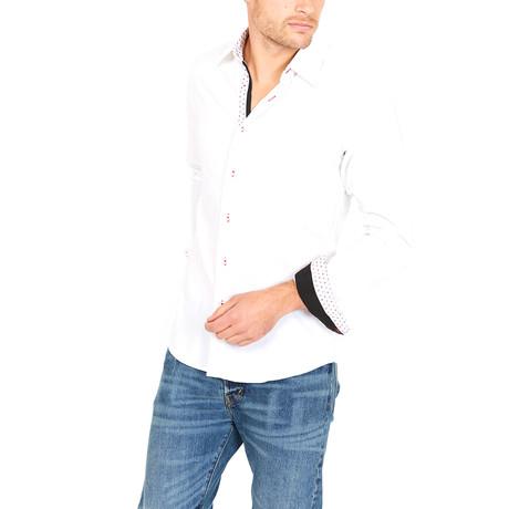 Michael Slim Fit Button-Down // White (L)