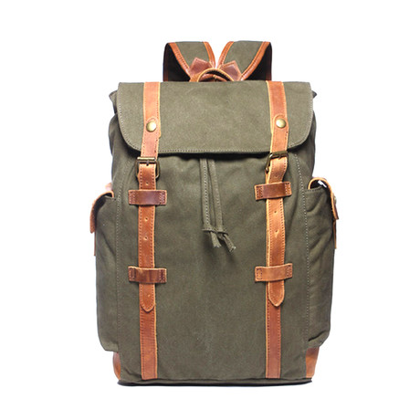 No. 746 Canvas Backpack (Navy)