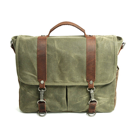 No. 751 Canvas Messenger Bag (Khaki)
