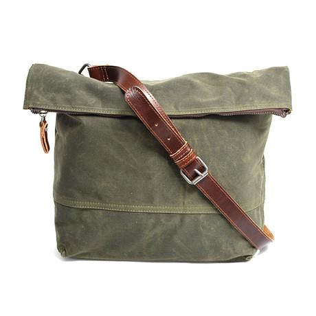 No. 733 Canvas Shoulder Bag (Army Green)