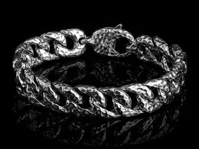 Clocks And Colours Silver + Steel Jewelry Shakel Bracelet // Sterling Silver