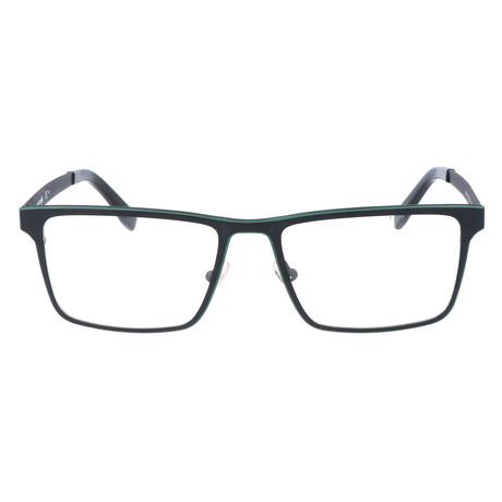 Cid Flat Top Thick Rectangular Frame // Matte Black