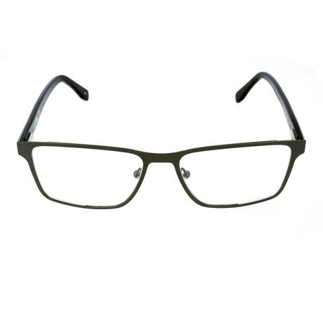 Darien Flat Rectangular Metal Frame // Green