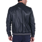 Iron Leather Jacket // Navy (L)
