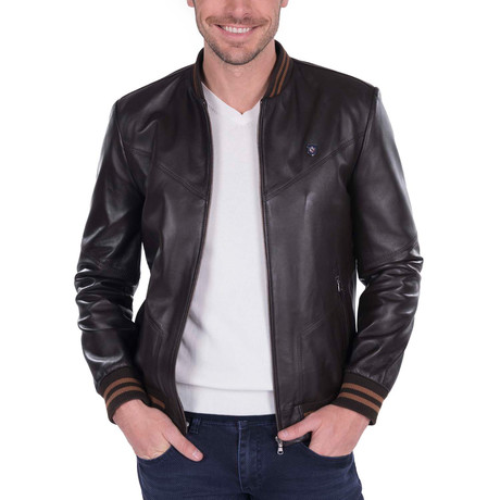 Loft Leather Jacket // Brown (S)