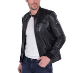 Swing Leather Jacket // Black (M)