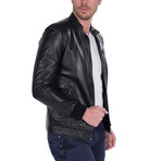 Swing Leather Jacket // Black (XL)