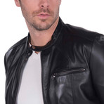 Swing Leather Jacket // Black (3XL)