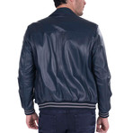 Hybrid Leather Jacket // Navy (S)
