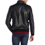 Weak Grip Leather Jacket // Black (M)