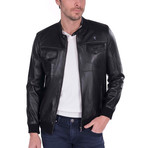 Spin Leather Jacket // Black (XL)