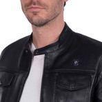 Spin Leather Jacket // Black (2XL)