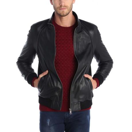 Weak Grip Leather Jacket // Black
