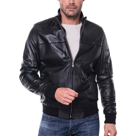 Yips Leather Jacket // Black (S)