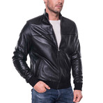 Yips Leather Jacket // Black (M)