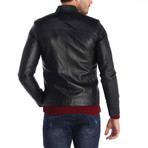 Topped Shot Leather Jacket // Black (L)