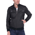 Index Leather Jacket // Black (2XL)