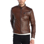 Touch Leather Jacket // Chestnut (M)
