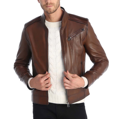 Touch Leather Jacket // Chestnut (S)