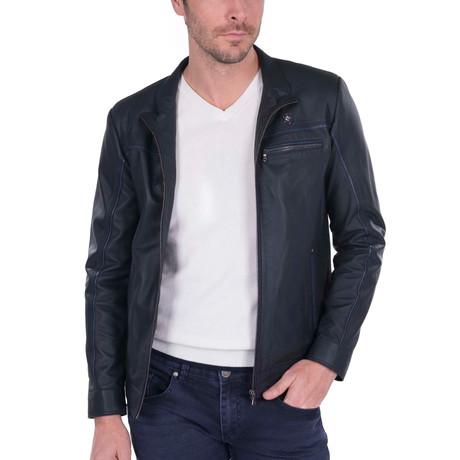 Shaft Leather Jacket // Black