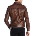 Touch Leather Jacket // Chestnut (2XL)