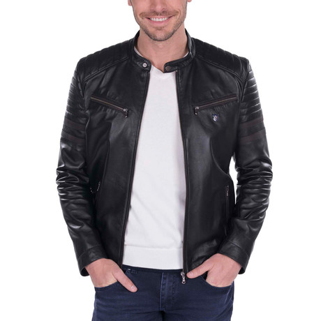 Alignment Leather Jacket // Black (S)