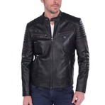 Alignment Leather Jacket // Black (2XL)