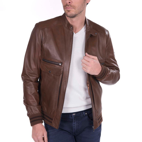 Lob Leather Jacket // Brown (L)