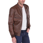 Lob Leather Jacket // Brown (XL)